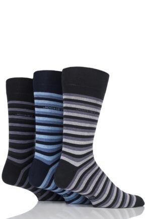 Mens 3 Pair Jockey Casual Stripe Cotton Socks