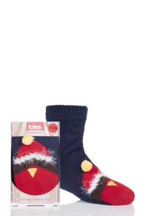 Boys and Girls 1 Pair Totes Chunky Christmas Novelty Slipper Socks