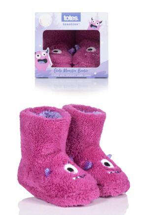 Kids 1 Pair Totes Monster Slippers