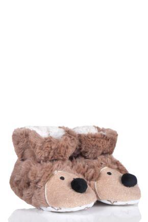 Boys and Girls Tots 1 Pair Totes Padders Slipper Socks Hedgehog 24-30 Months