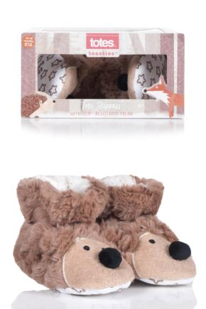 Boys and Girls Tots 1 Pair Totes Padders Slipper Socks Hedgehog 6-12 Months