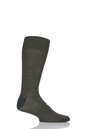 Mens 1 Pair 1000 Mile Tactel Ultimate Light Weight Walking Socks Moss  L