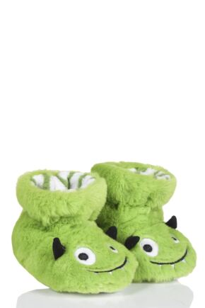 3d58868200c4 Boys 1 Pair Totes Animal Padders Slipper Socks. Grey. Green