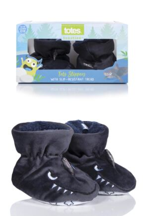Boys 1 Pair Totes Animal Padders Slipper Socks Shark 18-24 Months