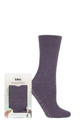 Ladies 1 Pair Totes Originals Slipper Socks Purple One Size
