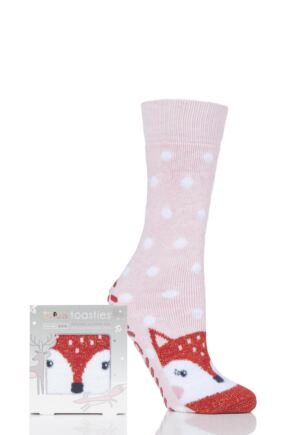 Ladies 1 Pair Totes Original Novelty Slipper Socks with Grip