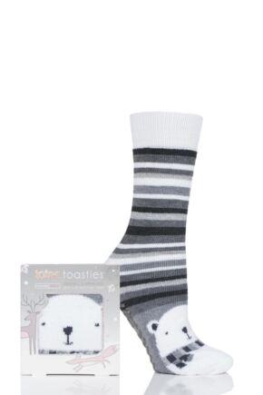 Ladies 1 Pair Totes Original Novelty Slipper Socks with Grip