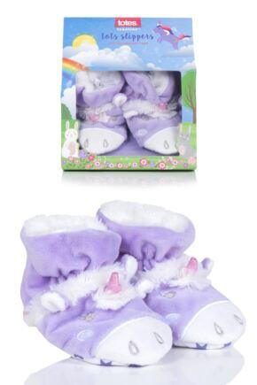 Girls 1 Pair Totes Animal Padders Slipper Socks Unicorn 18-24 Months