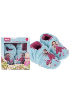 Girls 1 Pair Totes Tots Fairy Slippers with Grip 50% OFF Blue 6-12 Months