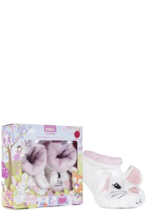 Baby Girls 1 Pair Totes Novelty Slippers with Grip Mouse 6-12