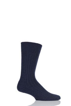 Mens 1 Pair Glenmuir Cushion Sole Wool Golf Socks Navy