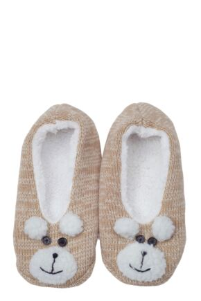 Ladies 1 Pair Totes Novelty Footsie Slippers with Supersoft Lining