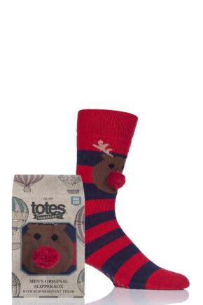 Mens 1 Pair Totes Originals Slipper Socks