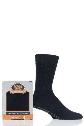 Mens 1 Pair Totes Originals Slipper Socks