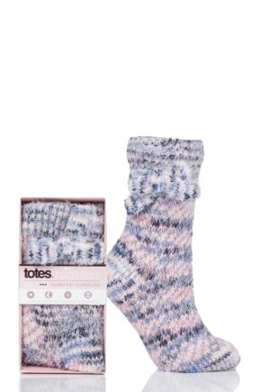 Ladies 1 Pair Totes Fleece Lined Chunky Socks