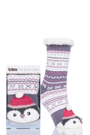 Ladies 1 Pair Totes Novelty Chunky Lined Socks