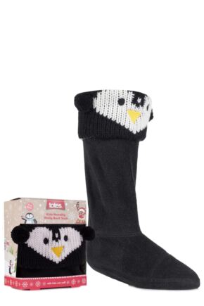 Boys and Girls 1 Pair Totes Christmas Novelty Welly Boot Socks Penguin 2-4