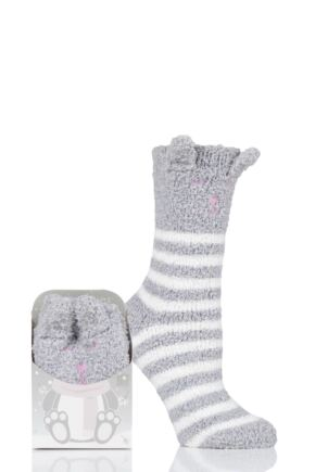 Ladies 1 Pair Totes Cosy Novelty Slipper Socks