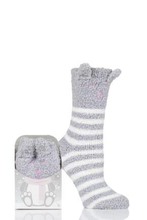 Ladies 1 Pair Totes Cosy Novelty Slipper Socks