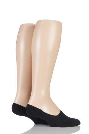 Mens 2 Pair Tommy Hilfiger Plain Cotton Invisible Footie Socks