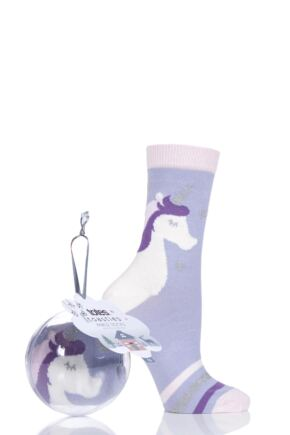 Ladies 1 Pair Totes Cotton Socks In a Bauble