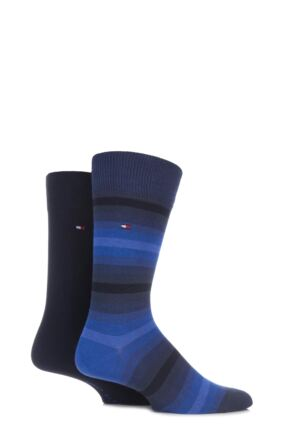 Tommy Hilfiger Mixed Striped Combed Cotton Socks