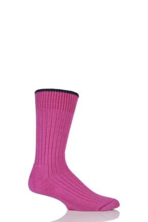 Mens and Ladies 1 Pair Glenmuir Cotton Cushioned Golf Socks Clematis M