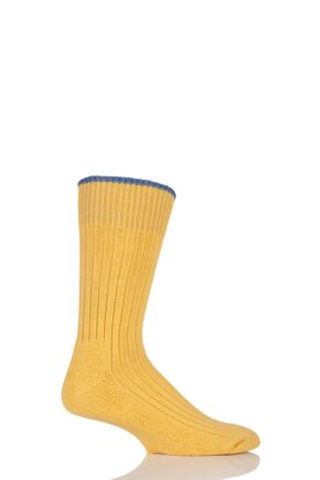 Mens and Ladies 1 Pair Glenmuir Cotton Cushioned Golf Socks Marigold S