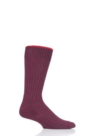 Mens and Ladies 1 Pair Glenmuir Cotton Cushioned Golf Socks Port L