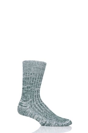 Mens and Ladies 1 Pair SOCKSHOP of London Cushioned Cotton Walking Socks Seaweed 4-7 Unisex