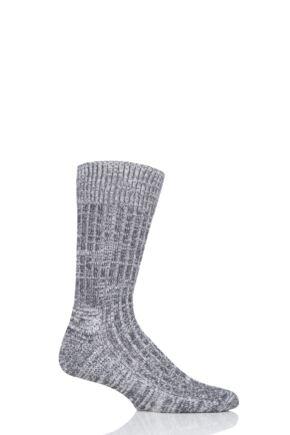 Mens and Ladies 1 Pair SOCKSHOP of London Cushioned Cotton Walking Socks Slate Grey 4-7 Unisex