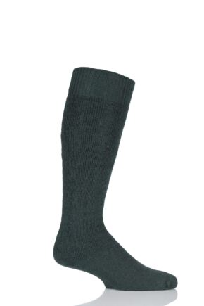 Mens and Ladies 1 Pair SOCKSHOP of London Mohair Knee High Socks With Cushioning Green 11-13