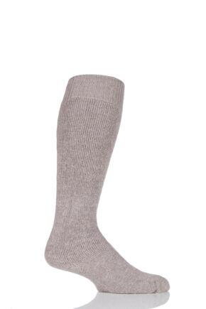 Mens and Ladies 1 Pair SockShop of London Mohair Knee High Socks With Cushioning Toffee 8-10
