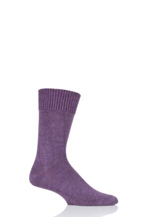 Mens and Ladies 1 Pair SOCKSHOP of London Plain Alpaca Socks Damson 8-10 Unisex
