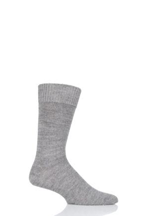 Mens and Ladies 1 Pair SOCKSHOP of London Plain Alpaca Socks