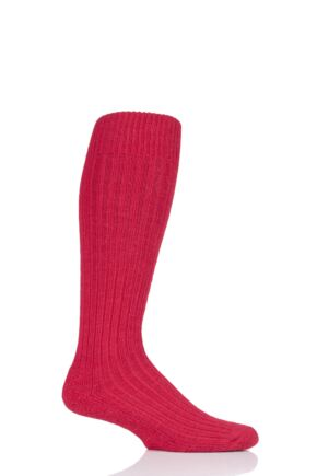Mens and Ladies 1 Pair SockShop of London Alpaca Cushioned Knee High Walking Socks Brigade Red 4-7 Unisex