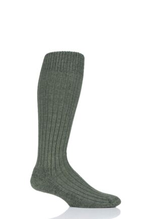 Mens and Ladies 1 Pair SOCKSHOP of London Alpaca Cushioned Knee High Walking Socks Bottle Green 4-7 Unisex