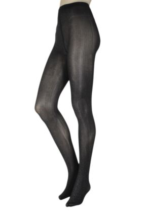 Ladies 1 Pair Falke Stardust Glitter Stripe Tights