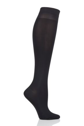 Ladies 1 Pair Falke 40 Denier Medium Compression Vitalize Knee High Socks