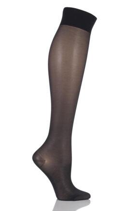 Ladies 1 Pair Falke Support 40 Semi Opaque Knee Highs