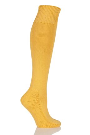 Mens and Ladies 1 Pair SockShop of London Cotton Riding Socks With Cushion Sole Marigold 4-7
