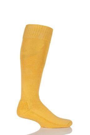 Mens and Ladies 1 Pair SockShop of London Cotton Riding Socks With Cushion Sole Marigold 7-11