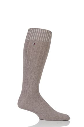 Mens 1 Pair Tommy Hilfiger Cashmere Ribbed Socks