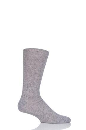 Mens 1 Pair SockShop of London 100% Cashmere Bed Socks Cygnet 8-10