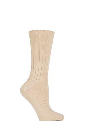 Ladies 1 Pair SockShop of London 100% Cashmere Bed Socks