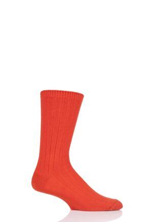 Mens 1 Pair SOCKSHOP of London 100% Cashmere Bed Socks Forge 8-10