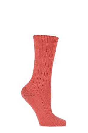 Ladies 1 Pair SockShop of London 100% Cashmere Bed Socks Marabou 4-7