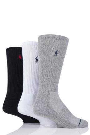 Mens 3 Pair Ralph Lauren Classic Sport Crew Socks