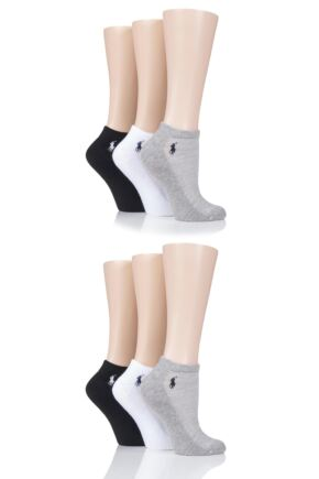 Ladies 6 Pair Ralph Lauren Cushioned Trainer Socks