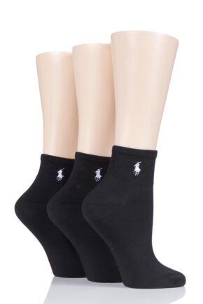 Ladies 3 Pair Ralph Lauren Supersoft Trainer Socks
